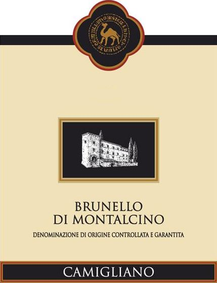 Camigliano Brunello di Montalcino (375ML half-bottle) 2014 Front Label