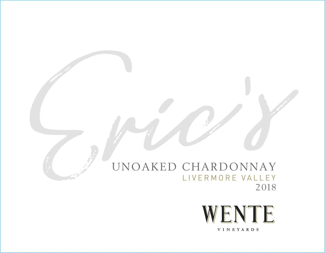 Wente Eric's Chardonnay 2018  Front Label