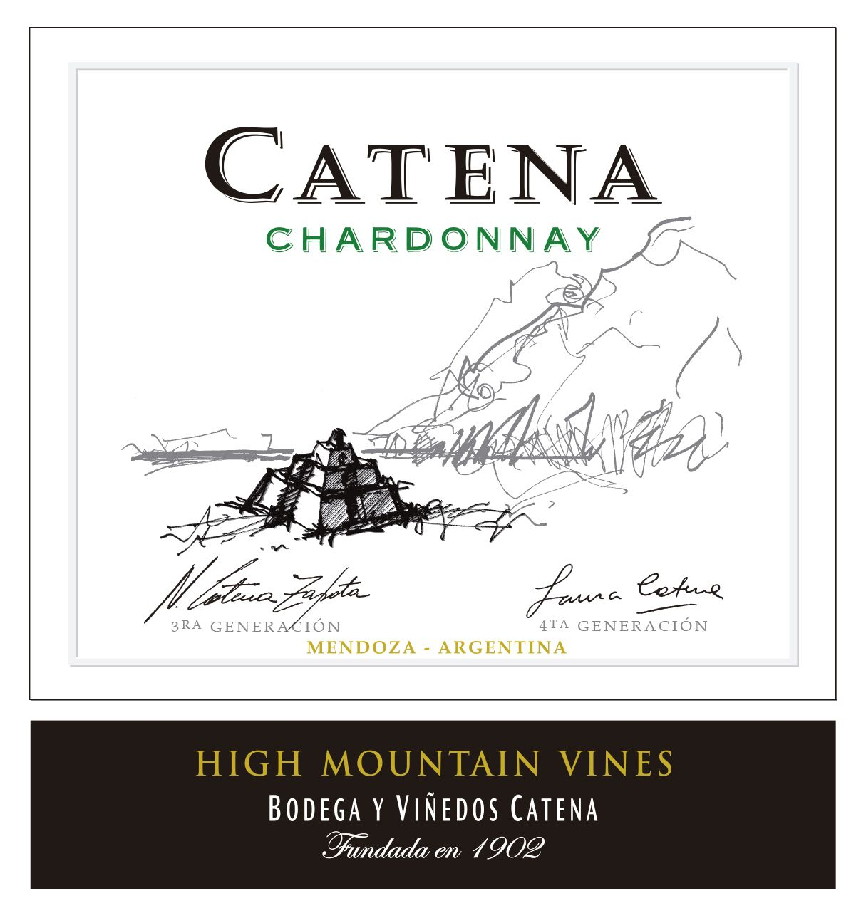 Catena Chardonnay 2019  Front Label