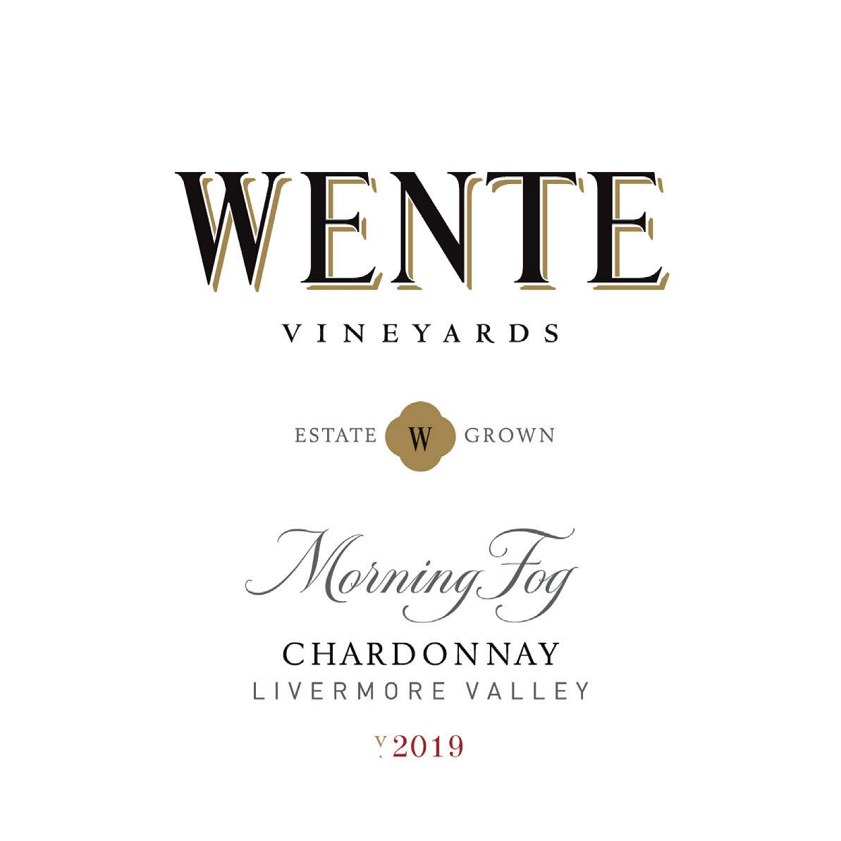 Wente Morning Fog Chardonnay 2019  Front Label