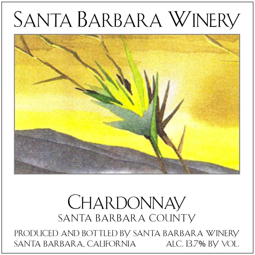 Santa Barbara Winery Chardonnay 2018  Front Label