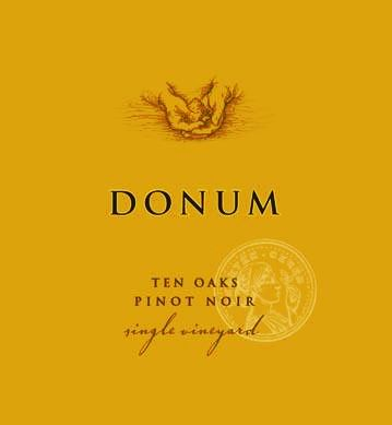 The Donum Estate Ten Oaks Russian River Valley Pinot Noir  2016  Front Label