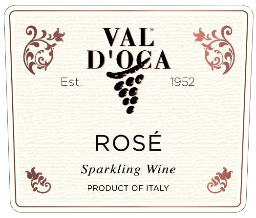 Val D'Oca Sparkling Rose Extra Dry  Front Label