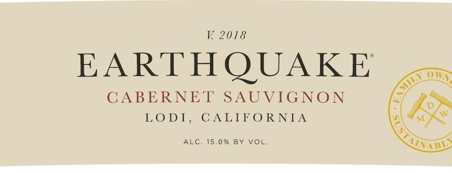 Michael David Winery Earthquake Cabernet Sauvignon 2018  Front Label