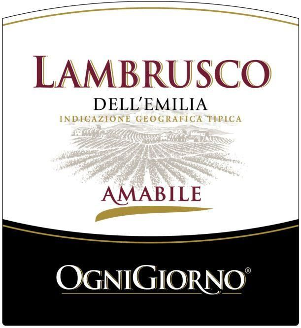 Zonin OgniGiorno Amabile Lambrusco  Front Label