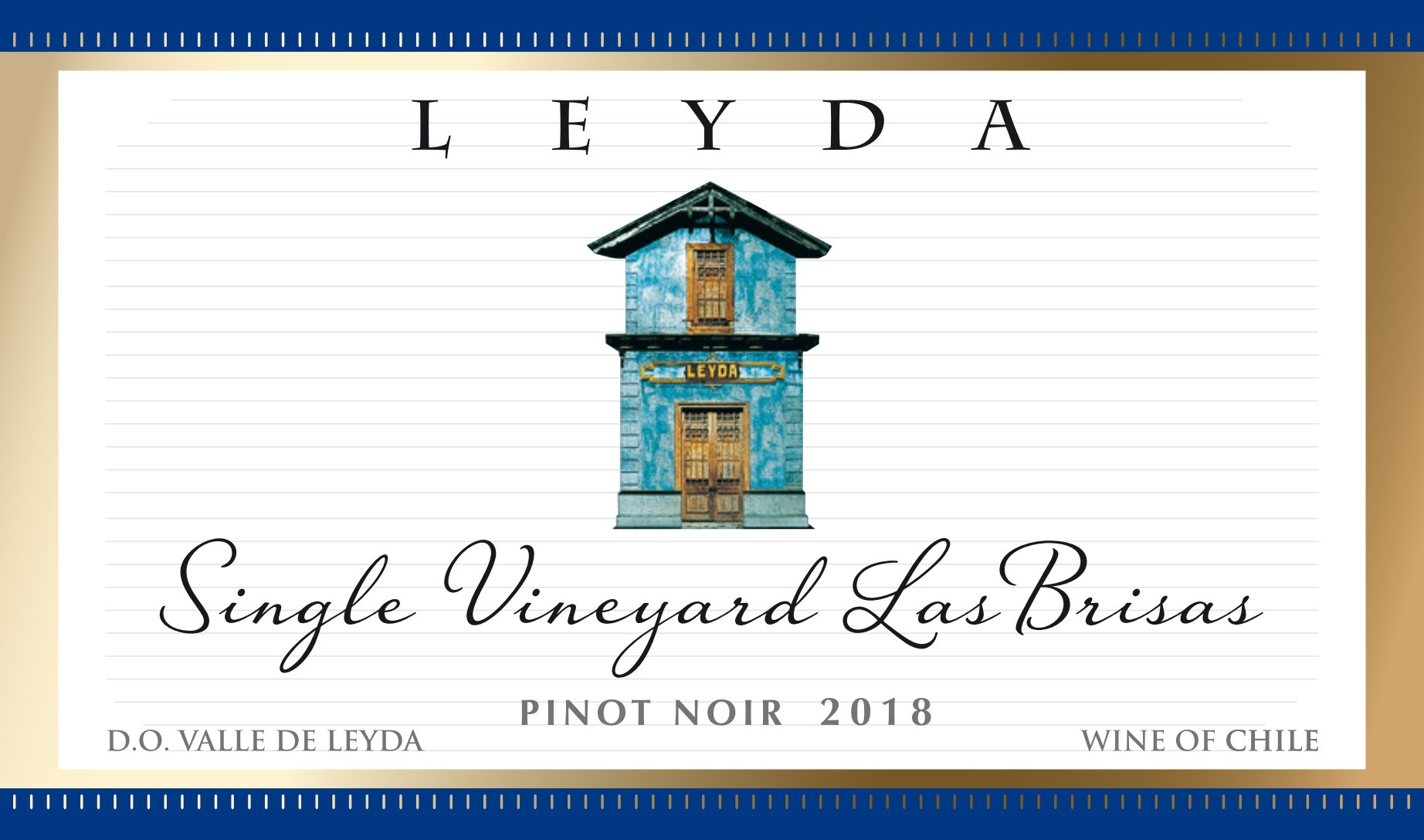 Vina Leyda Single Vineyard Las Brisas Pinot Noir 2018  Front Label