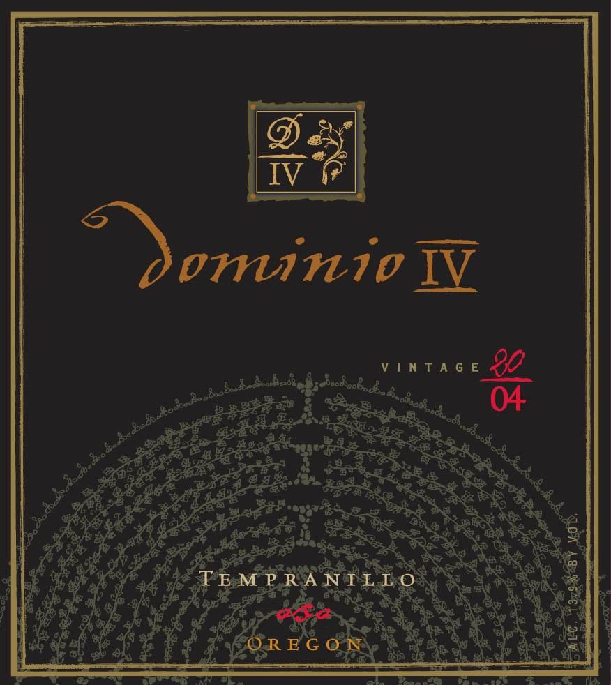 Dominio Wines Oso Tempranillo 2004  Front Label