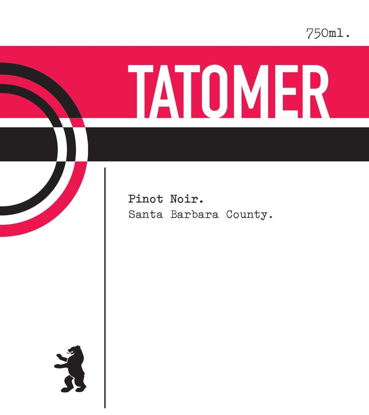 Tatomer Santa Barbara County Pinot Noir 2017  Front Label