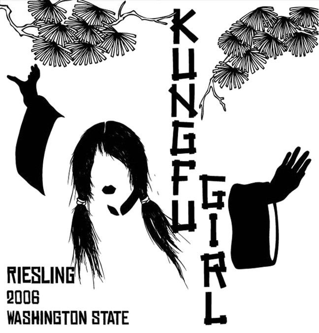 Charles & Charles Kung Fu Girl Riesling 2006  Front Label