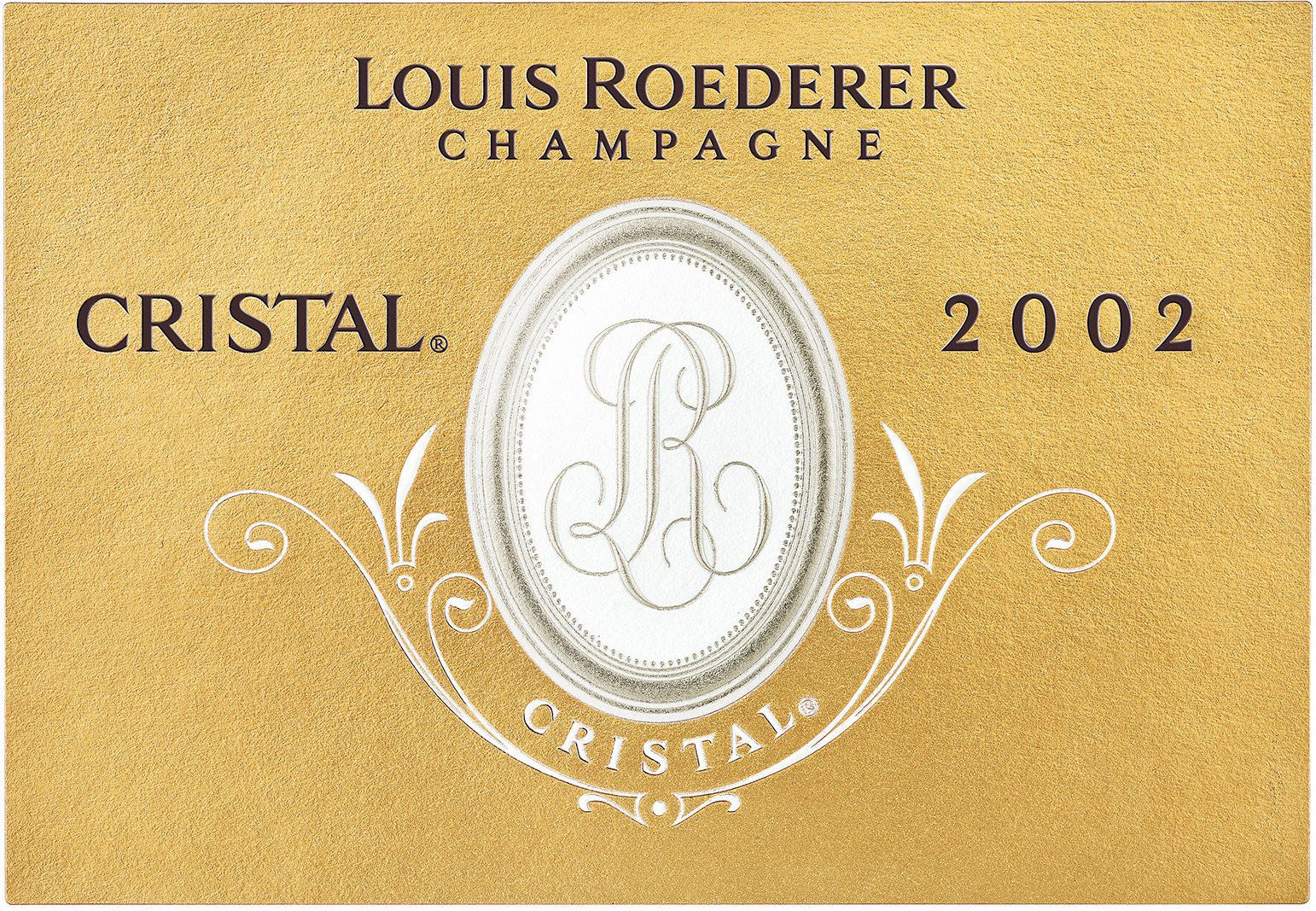 Louis Roederer Cristal Brut with Gift Box 2002  Front Label