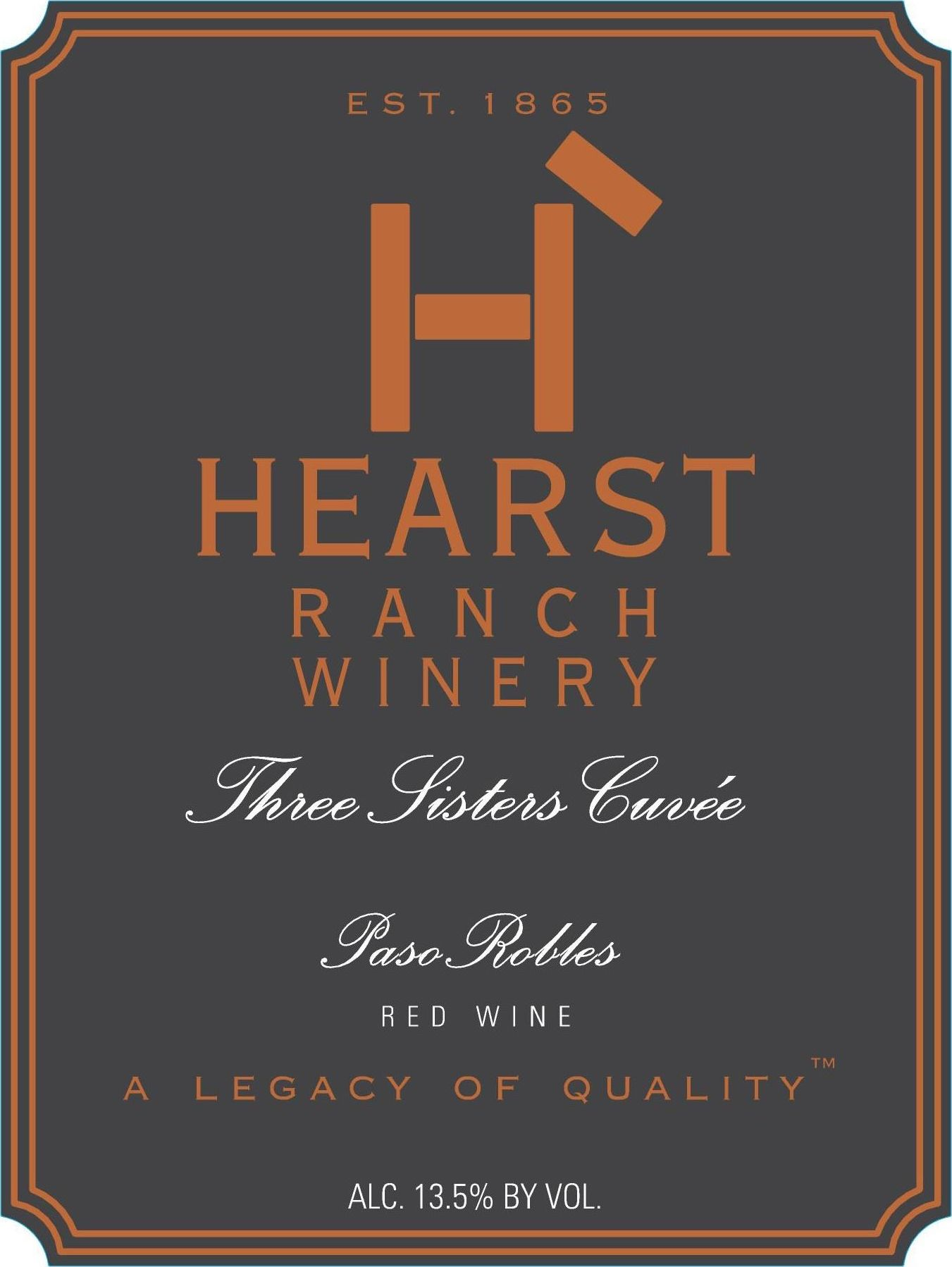 Hearst Ranch Three Sisters Cuvee Red 2017  Front Label