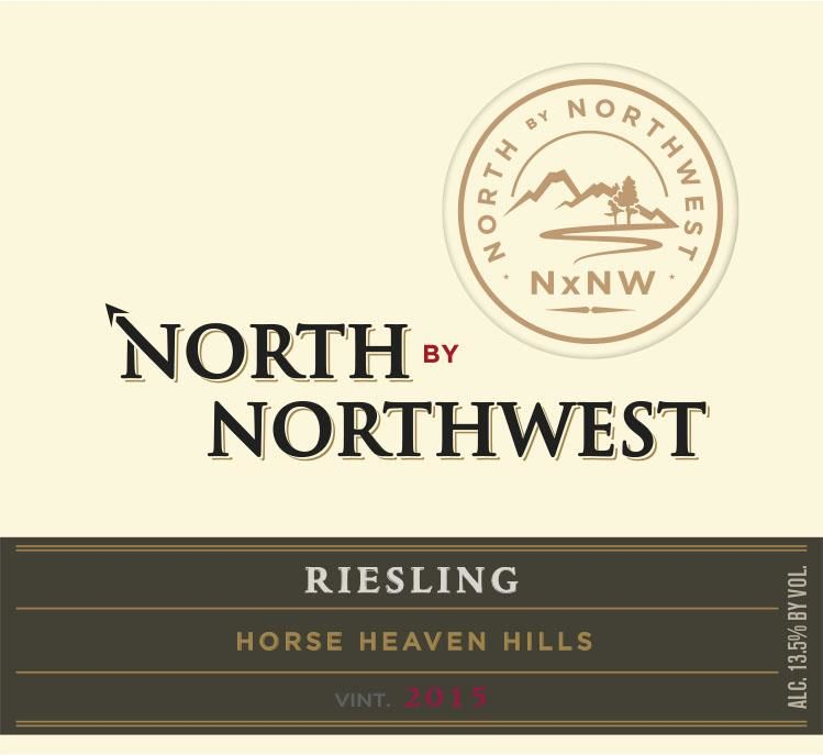 North by Northwest NxNW Horse Heaven Hills Riesling 2015  Front Label