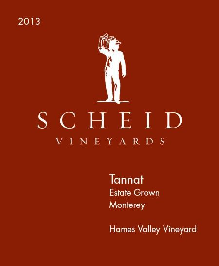 Scheid Vineyards Hames Valley Vineyard Tannat 2013  Front Label