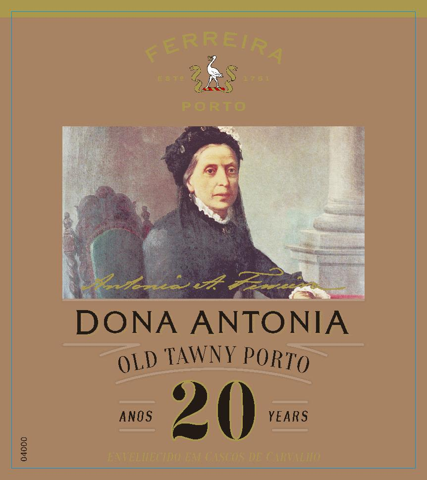Ferreira Dona Antonia 20 Year Tawny Port Front Label
