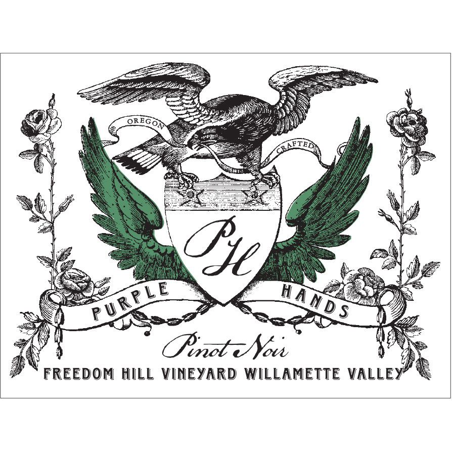 Purple Hands Freedom Hill Vineyard Pinot Noir 2018  Front Label