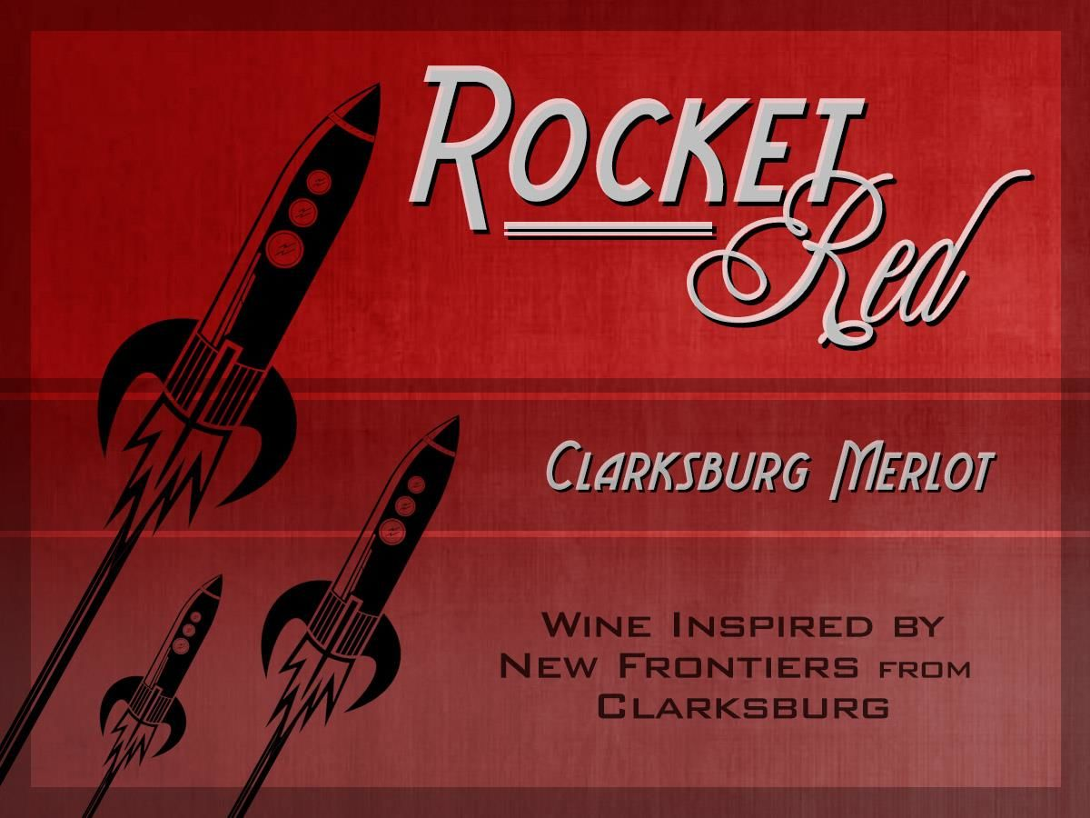 Rocket Red Merlot  Front Label
