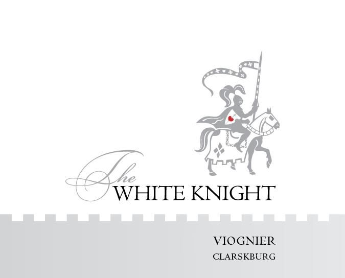 The White Knight Viognier 2018  Front Label