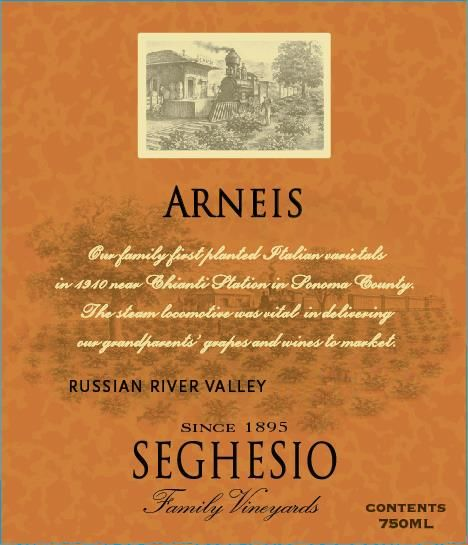 Seghesio Arneis 2015  Front Label