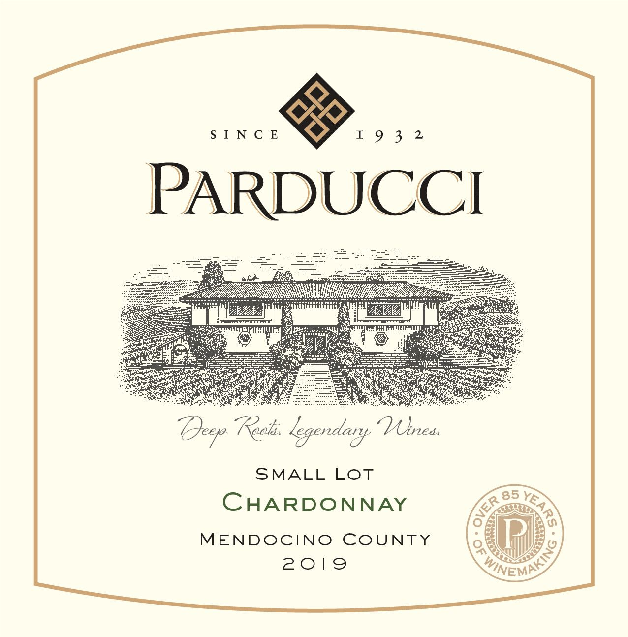 Parducci Small Lot Chardonnay 2019  Front Label