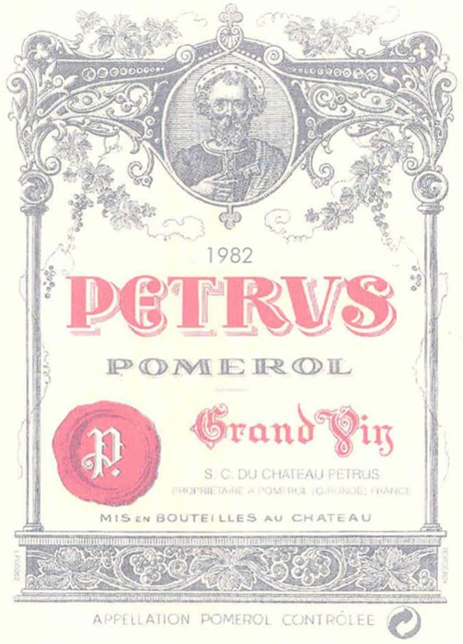 Chateau Petrus  1982  Front Label