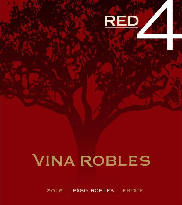 Vina Robles Red4 2016 Front Label