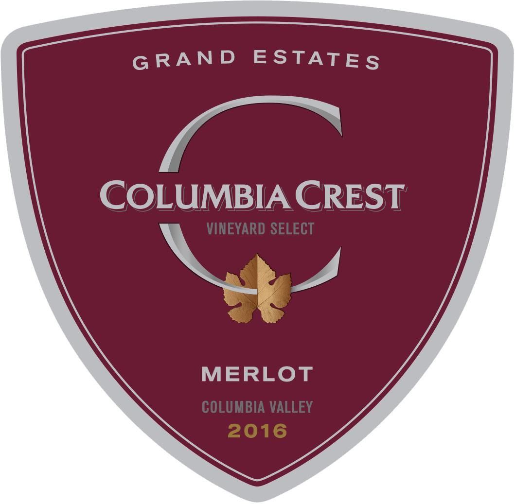 Columbia Crest Grand Estates Merlot 2016  Front Label