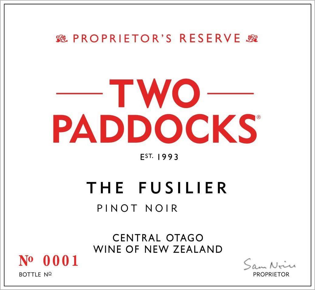 Two Paddocks Fusilier Pinot Noir 2018  Front Label
