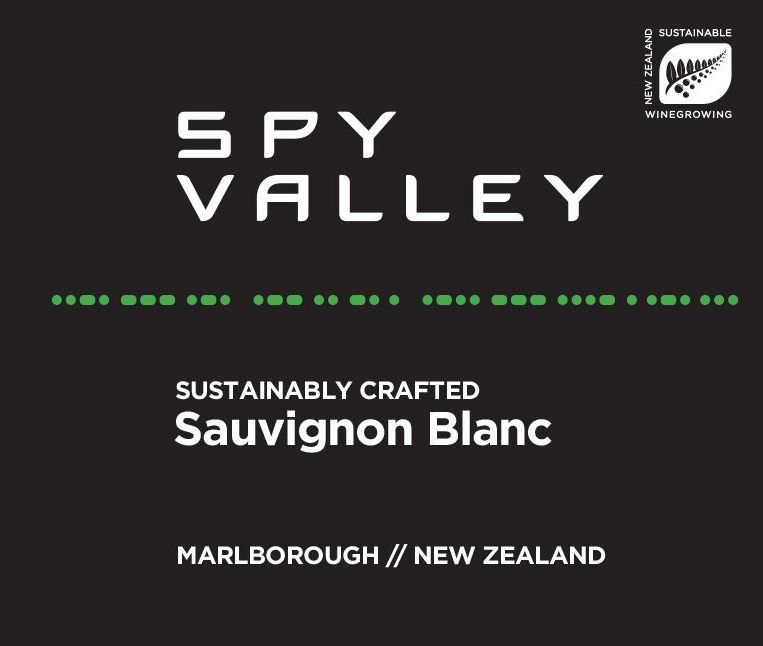 Spy Valley Sauvignon Blanc 2019  Front Label