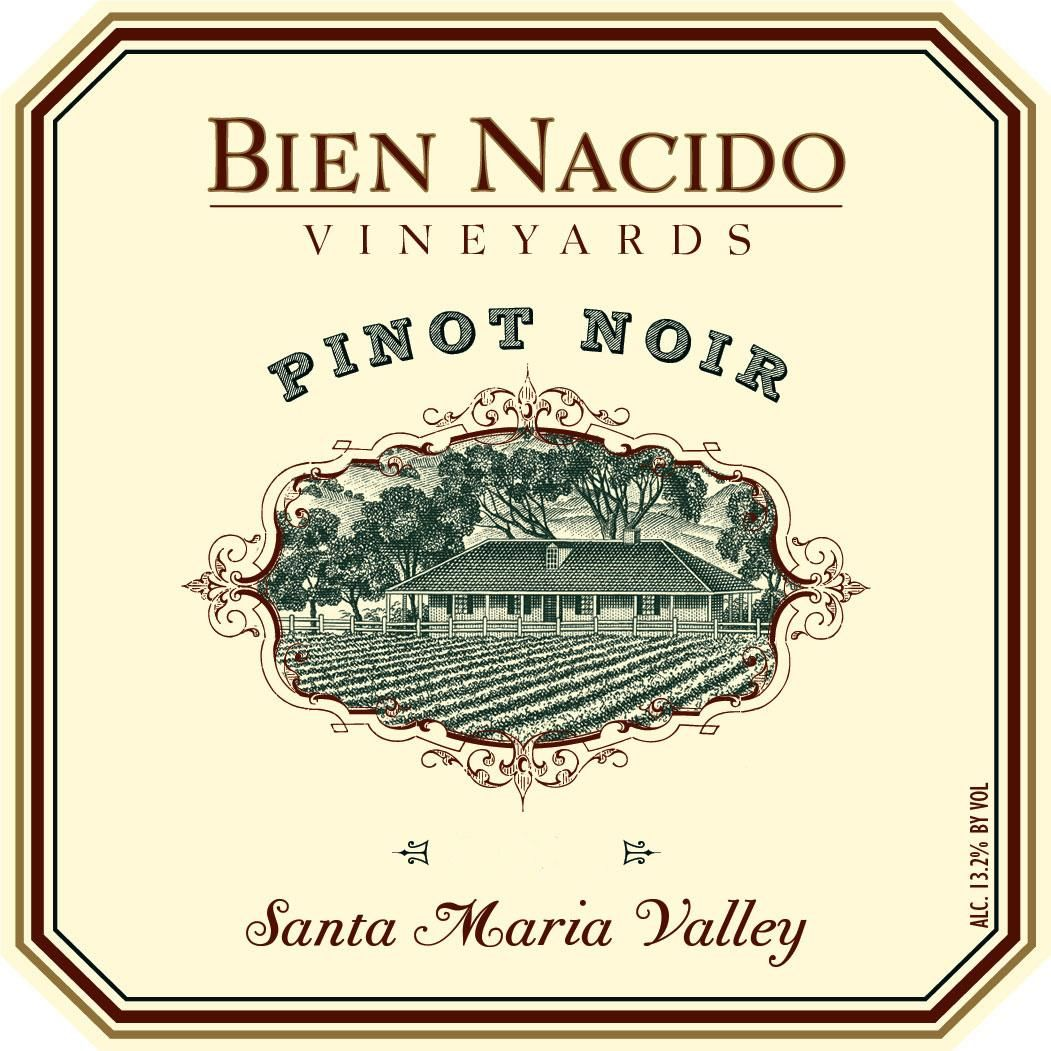 Bien Nacido Vineyards Pinot Noir 2016  Front Label