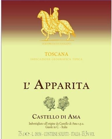 Castello di Ama L'Apparita 2014 Front Label