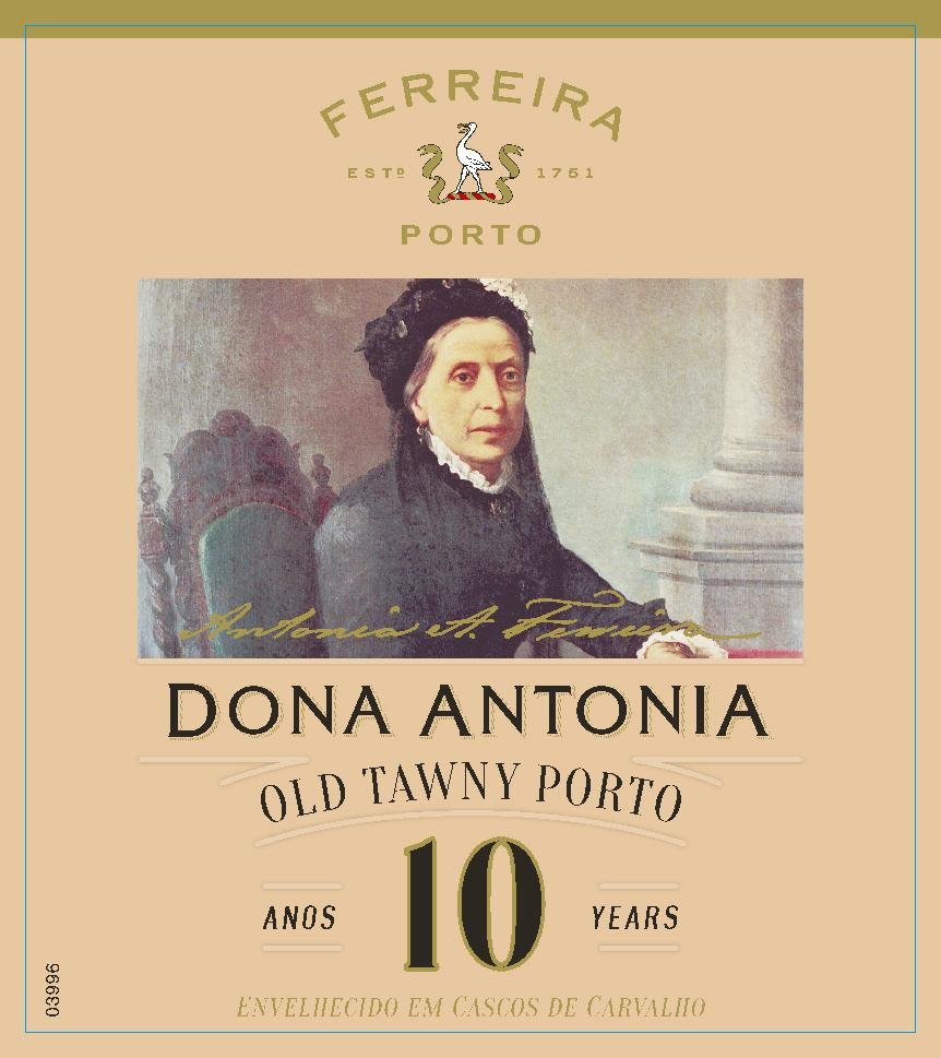 Ferreira Dona Antonia 10 Year Tawny Port Front Label