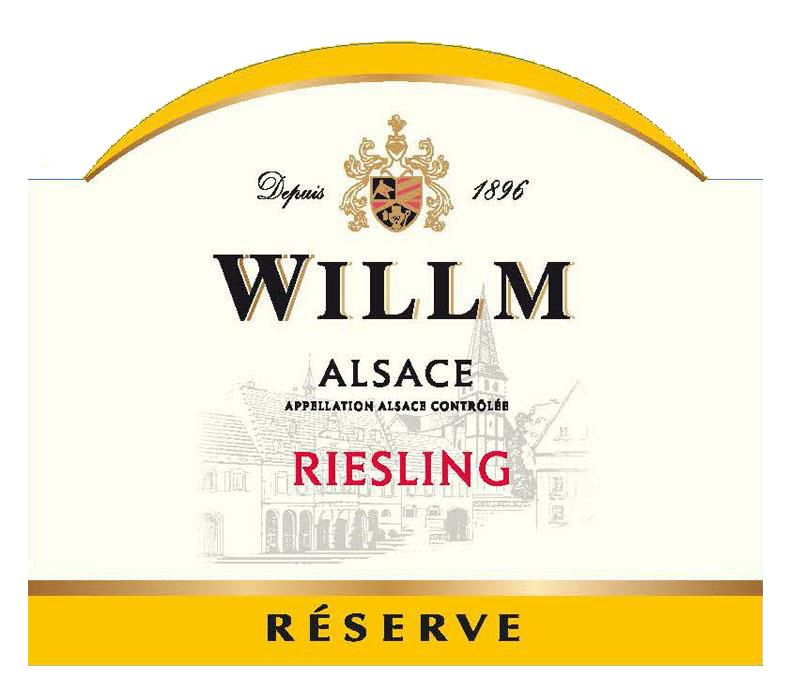 Alsace Willm Riesling Reserve 2019  Front Label