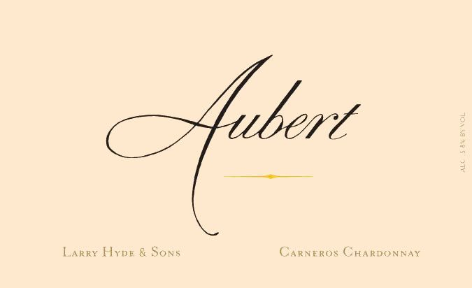 Aubert Larry Hyde & Sons Vineyard Chardonnay 2016 Front Label
