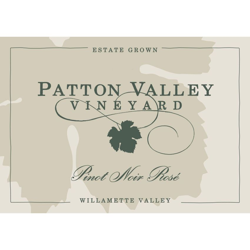 Patton Valley Pinot Noir Rose 2018  Front Label