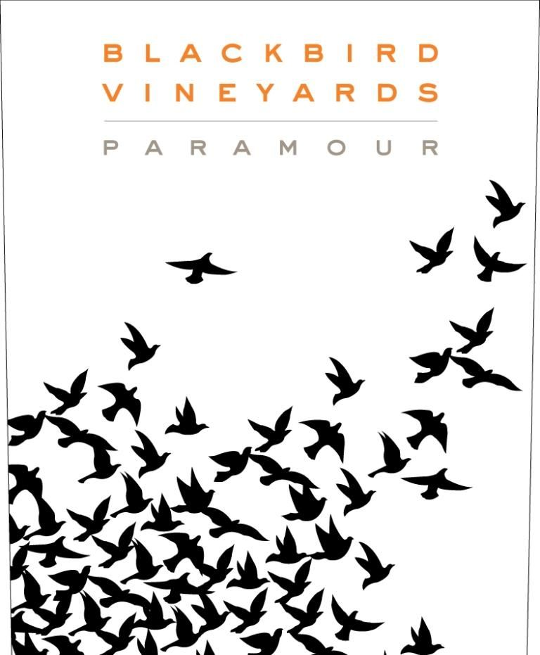 Blackbird Vineyards Paramour Napa Valley Proprietary Red 2016 Front Label