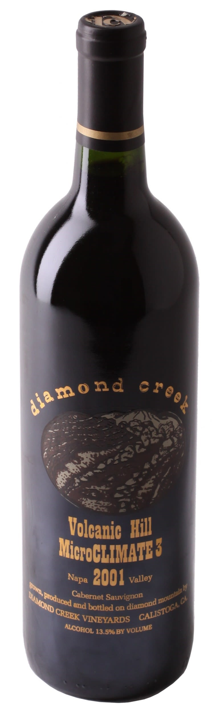 Diamond Creek Microclimate 3 Volcanic Hill Cabernet Sauvignon 2001  Front Bottle Shot