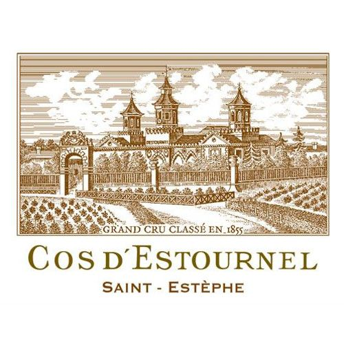 Chateau Cos d'Estournel 6-Pack OWC (Futures Pre-Sale) 2018  Front Label