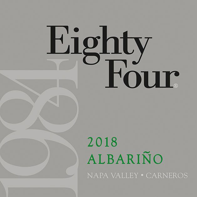 Eighty Four Albarino 2018 Front Label