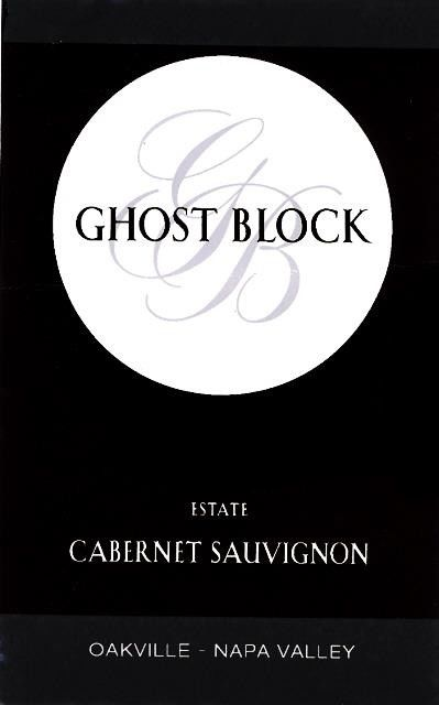 Ghost Block Oakville Estate Cabernet Sauvignon 2016 Front Label