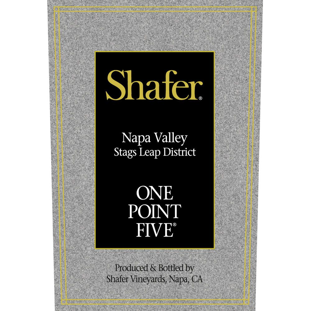 Shafer One Point Five Cabernet Sauvignon 2016 Front Label