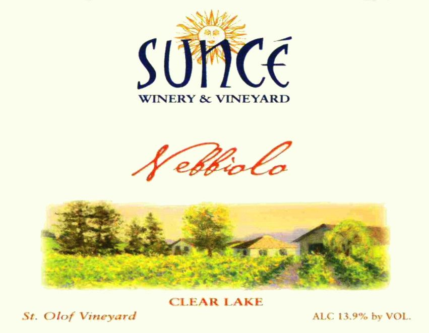 Sunce Winery St. Olaf Vineyard Nebbiolo 2006  Front Label
