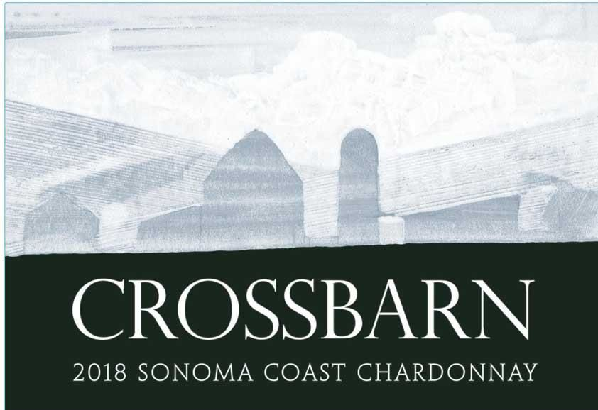 Crossbarn by Paul Hobbs Sonoma Coast Chardonnay 2018  Front Label