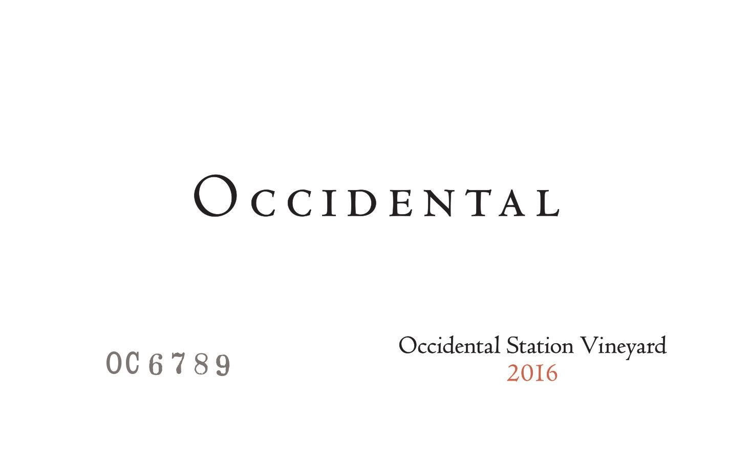 Occidental Occidental Station Pinot Noir 2016  Front Label