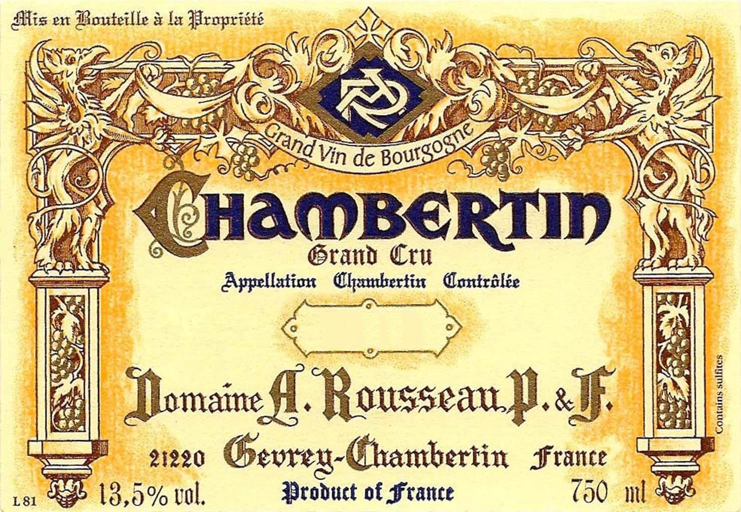 Domaine Armand Rousseau Chambertin Grand Cru 2016  Front Label