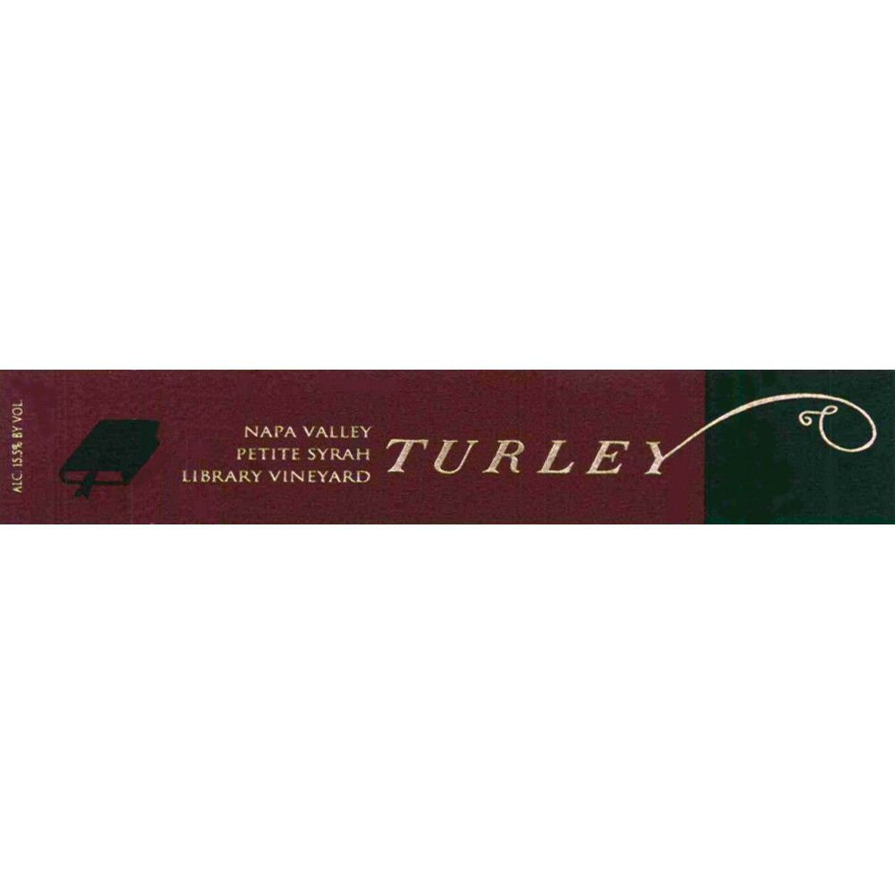 Turley Library Petite Syrah 2003  Front Label