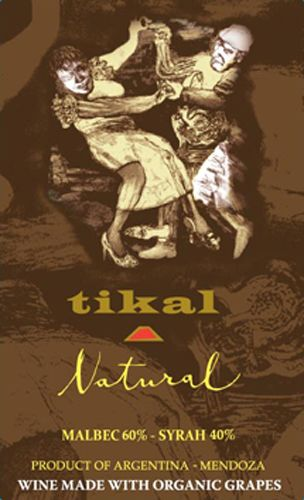 Tikal Natural Organic Red Blend 2015  Front Label