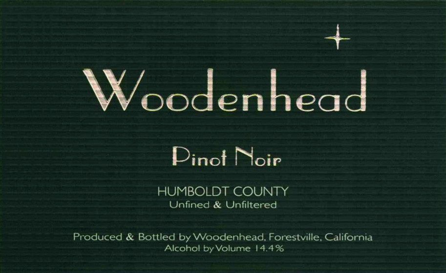 Woodenhead Pinot Noir 2008  Front Label