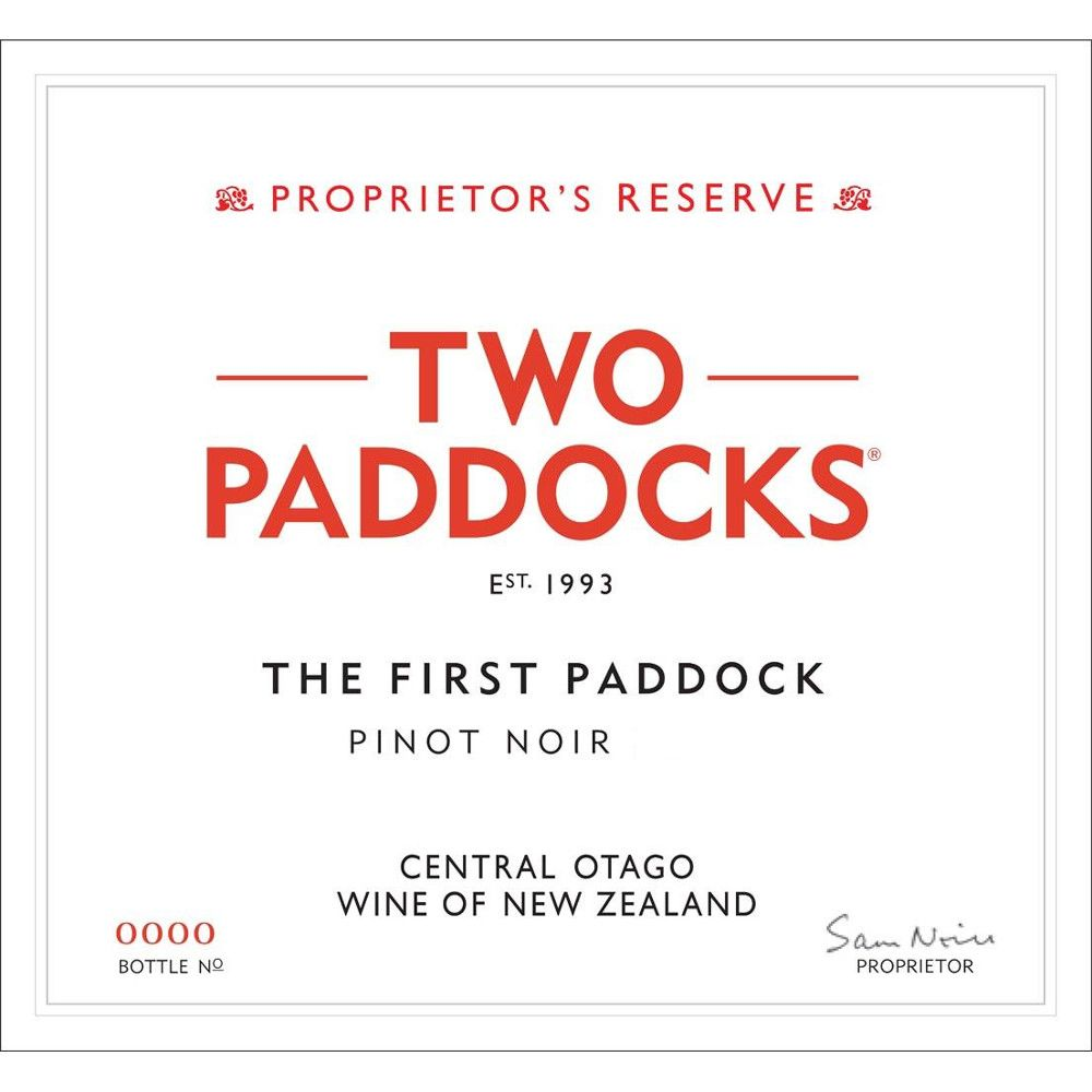 Two Paddocks The First Paddock Pinot Noir 2016  Front Label