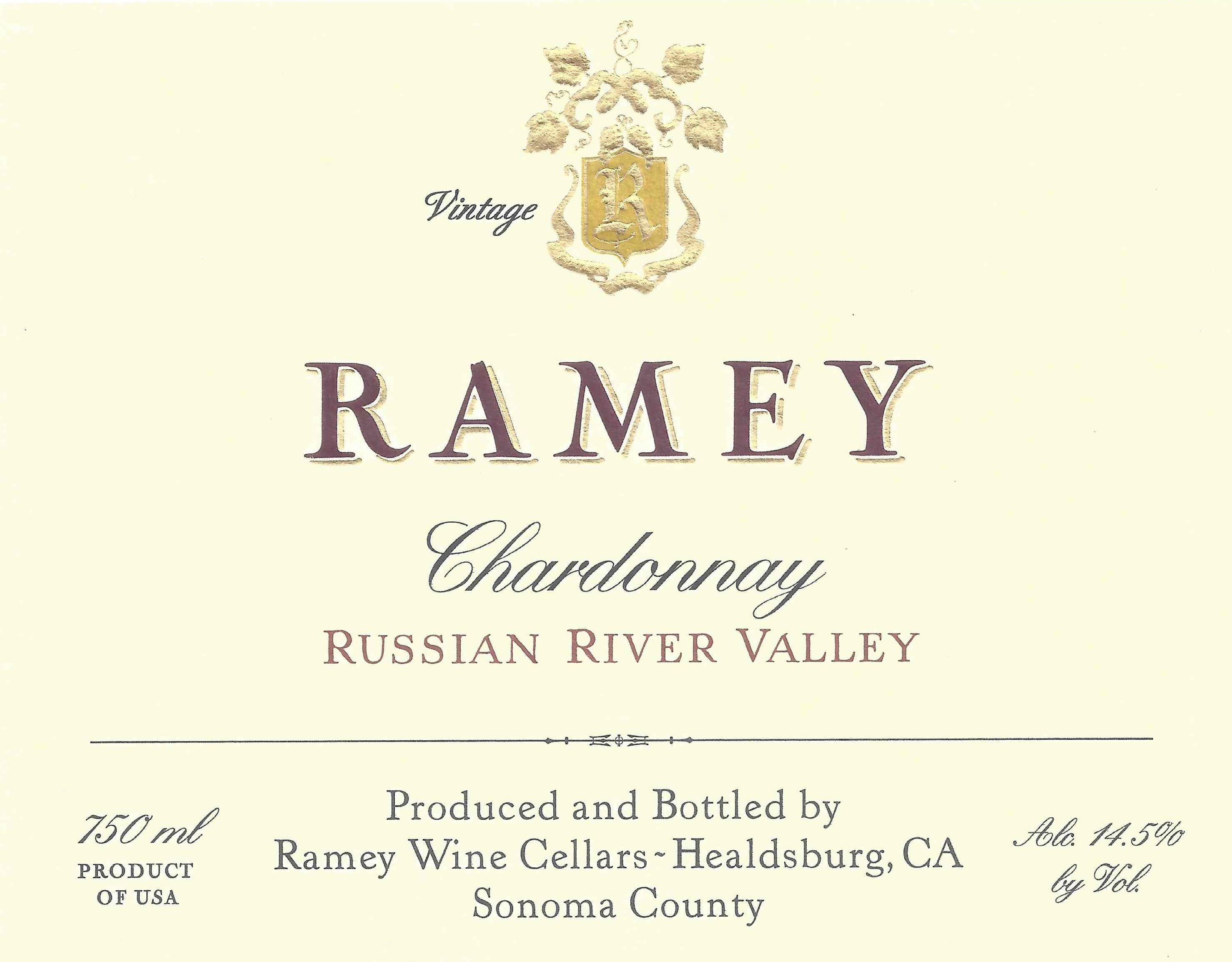 Ramey Russian River Chardonnay 2018  Front Label