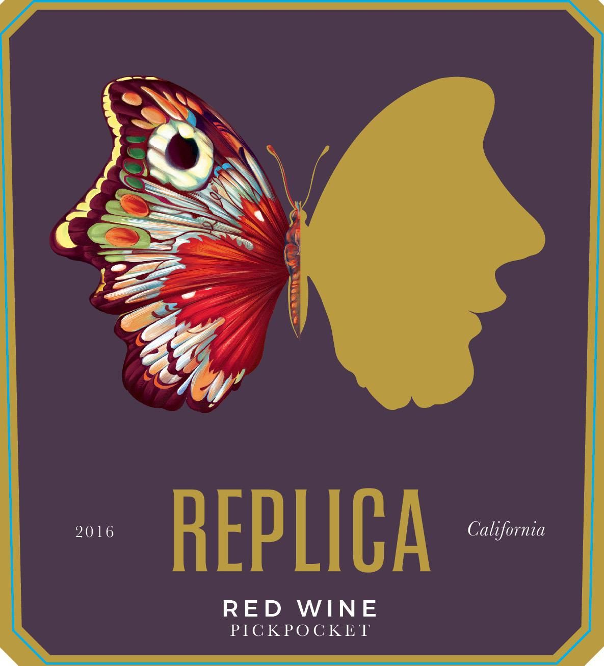 Replica Pickpocket Red Blend 2016 Front Label